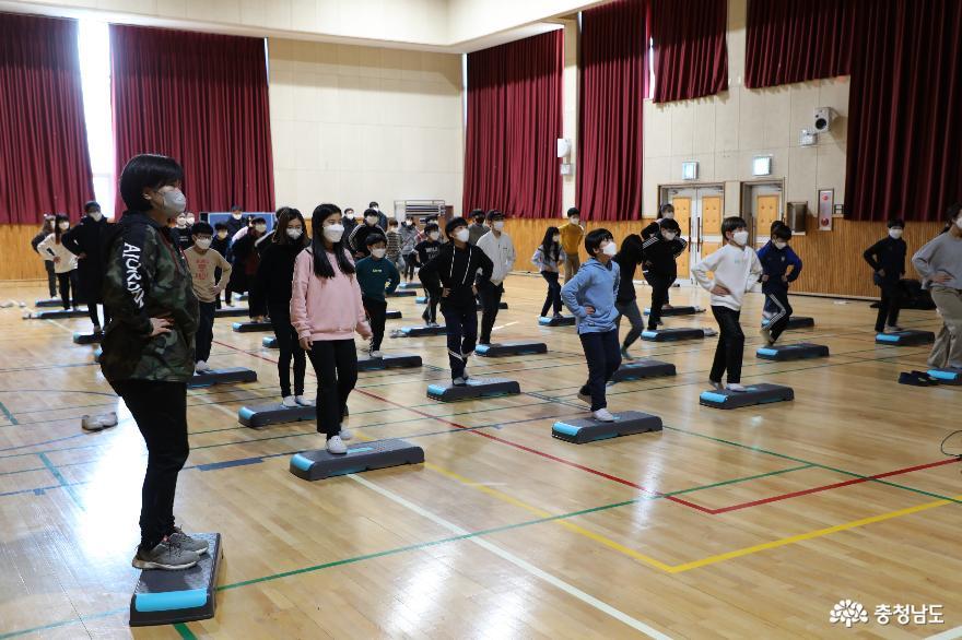 충남교육청, 겨울 [건강걷기365] 운영 학교 방문