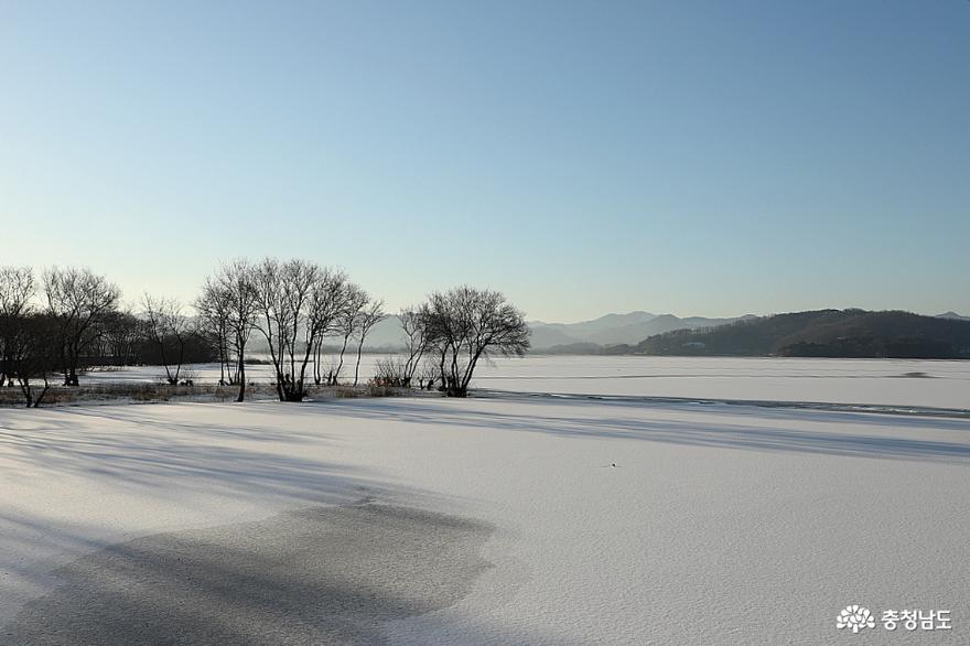 탑정호 소풍길을 걷는 겨울나그네