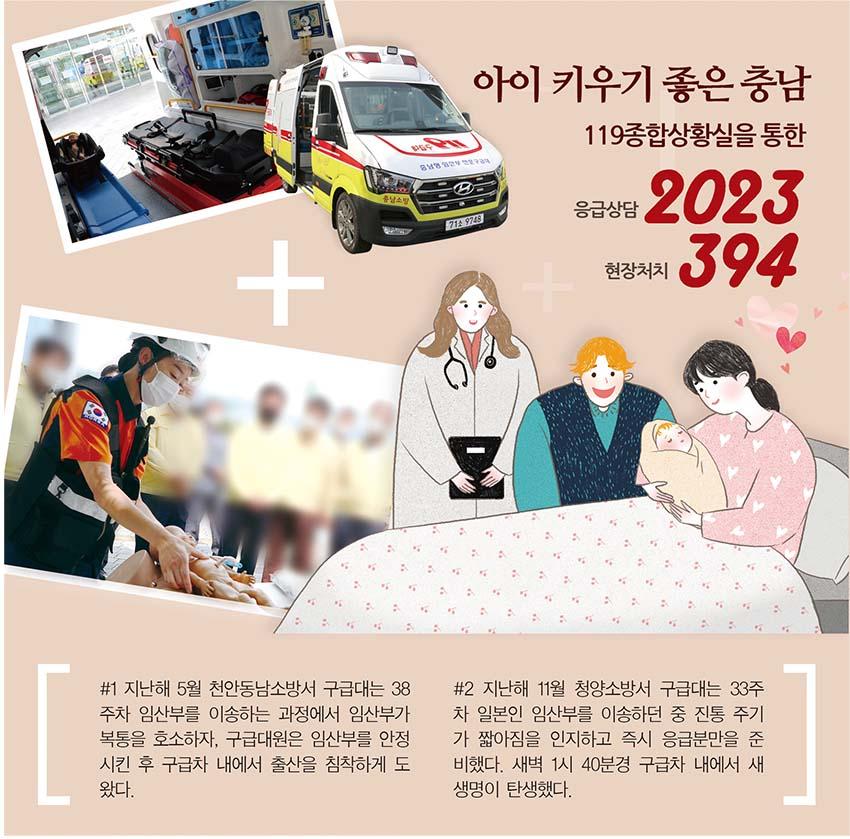 아이 키우기 좋은 충남 '일등공신' 임산부 119서비스