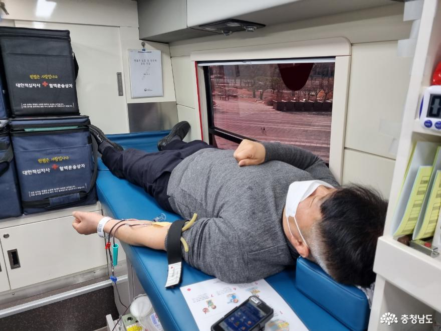 충남교육청, 혈액 수급 안정을 위한 헌혈 동참