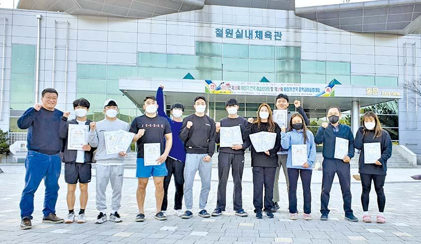 충남도청 레슬링팀 전국대회서 1위