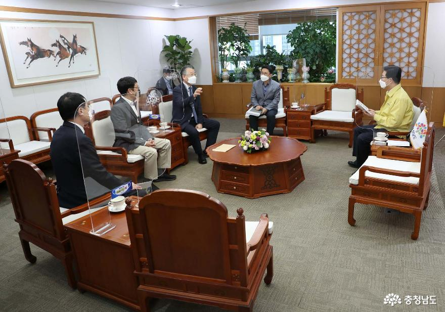 양승조 지사, 환경보전협회 '충남혁신도시' 이전 제안