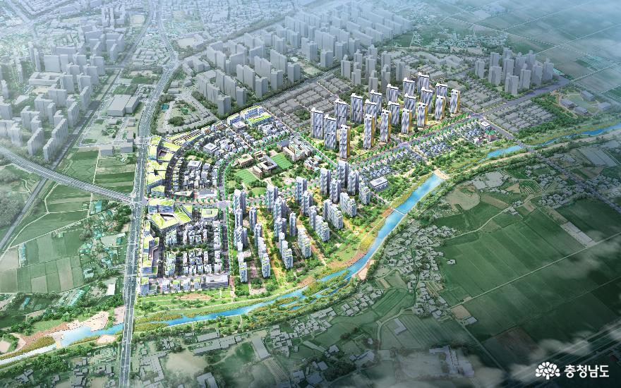 아산 모종샛들지구 도시개발 구역지정 확정