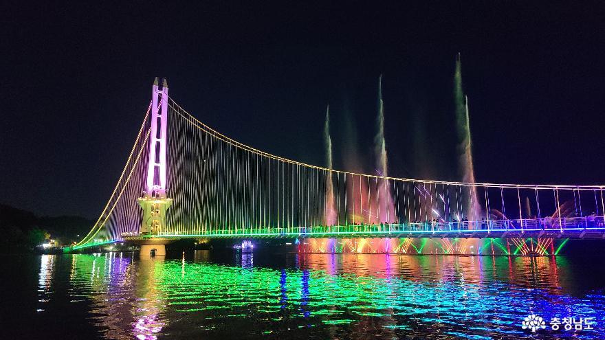 충남 여행지 추천 예산 예당호 출렁다리 음악분수