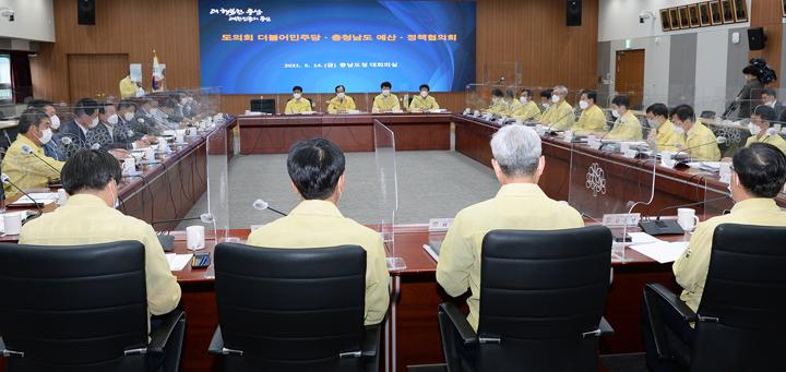 주요 도정 현안·내년 정부예산 확보 지원 요청