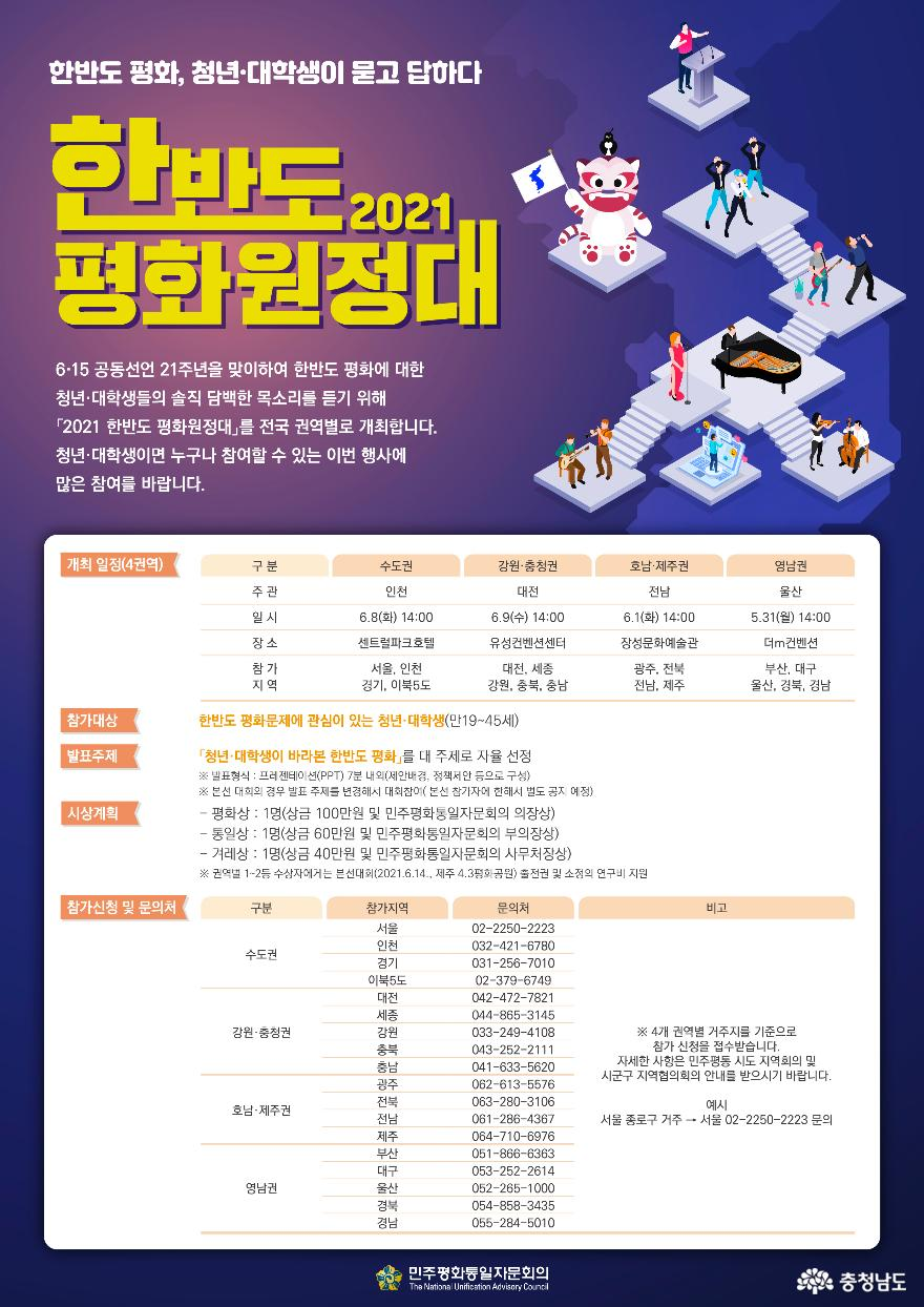 민주평화통일자문회의 충남지역회의, 한반도 평화원정대 모집