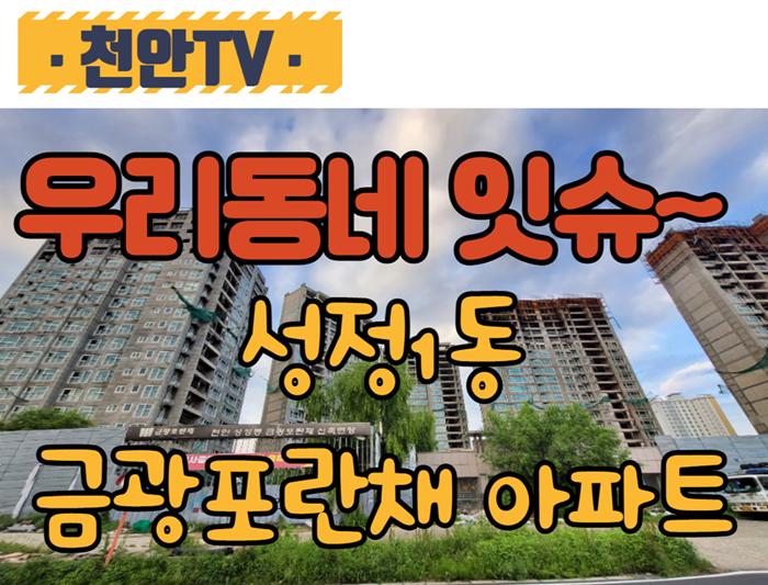 11년째 방치되어 있는 천안시 서북구 성정1동 금광포란채 아파트 현장